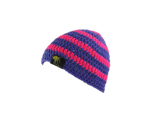 kallimari beanie  purple pink ringed