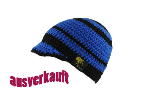kallimari visored beanie blue and black