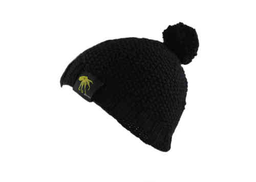kallimari beanie black with bobble