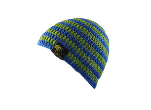 kallimari beanie blue-green ringed