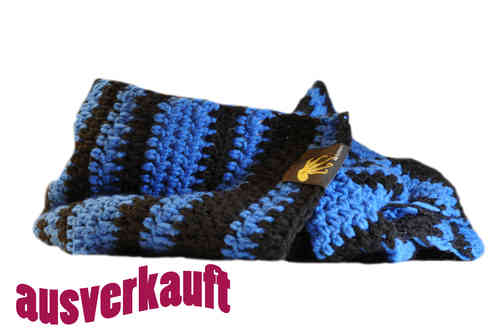 kallimari scarf blue and black ringed