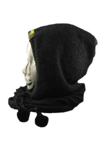 kallimari knitted hood black