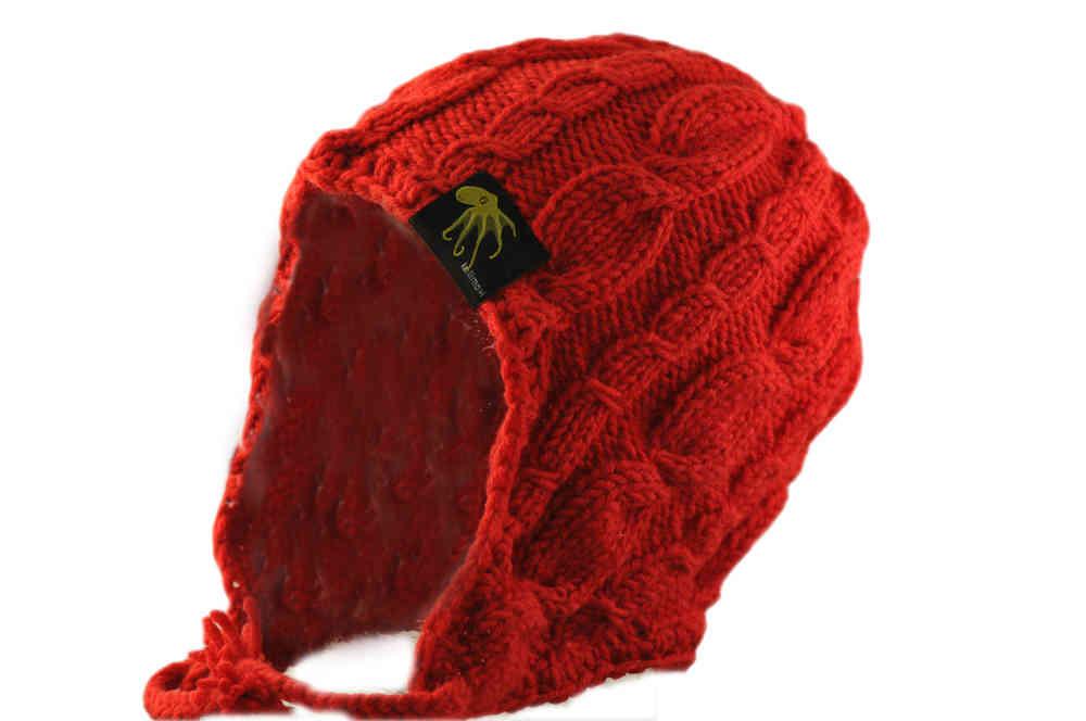 herren Schnäppchen 2017 hochwertige Materialien kallimari Mütze gorgonian red mit Ohrenklappen - kallimari
