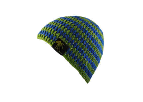 kallimari beanie green-blue ringed
